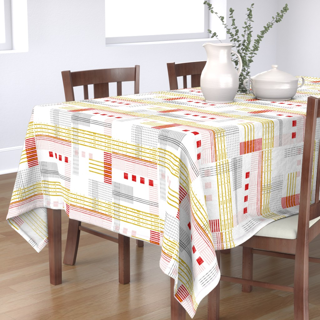 Bantam Rectangular Tablecloth featuring Modern Bauhaus by mrshervi