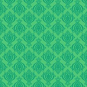 Damask Motif in Emerald