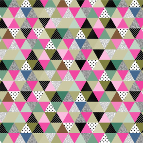 .Triangles_Quilt_pink and green,