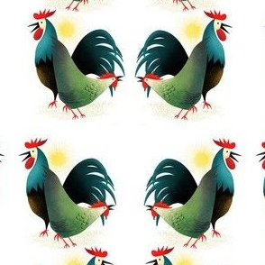 Rise And Shine Rooster And Hen