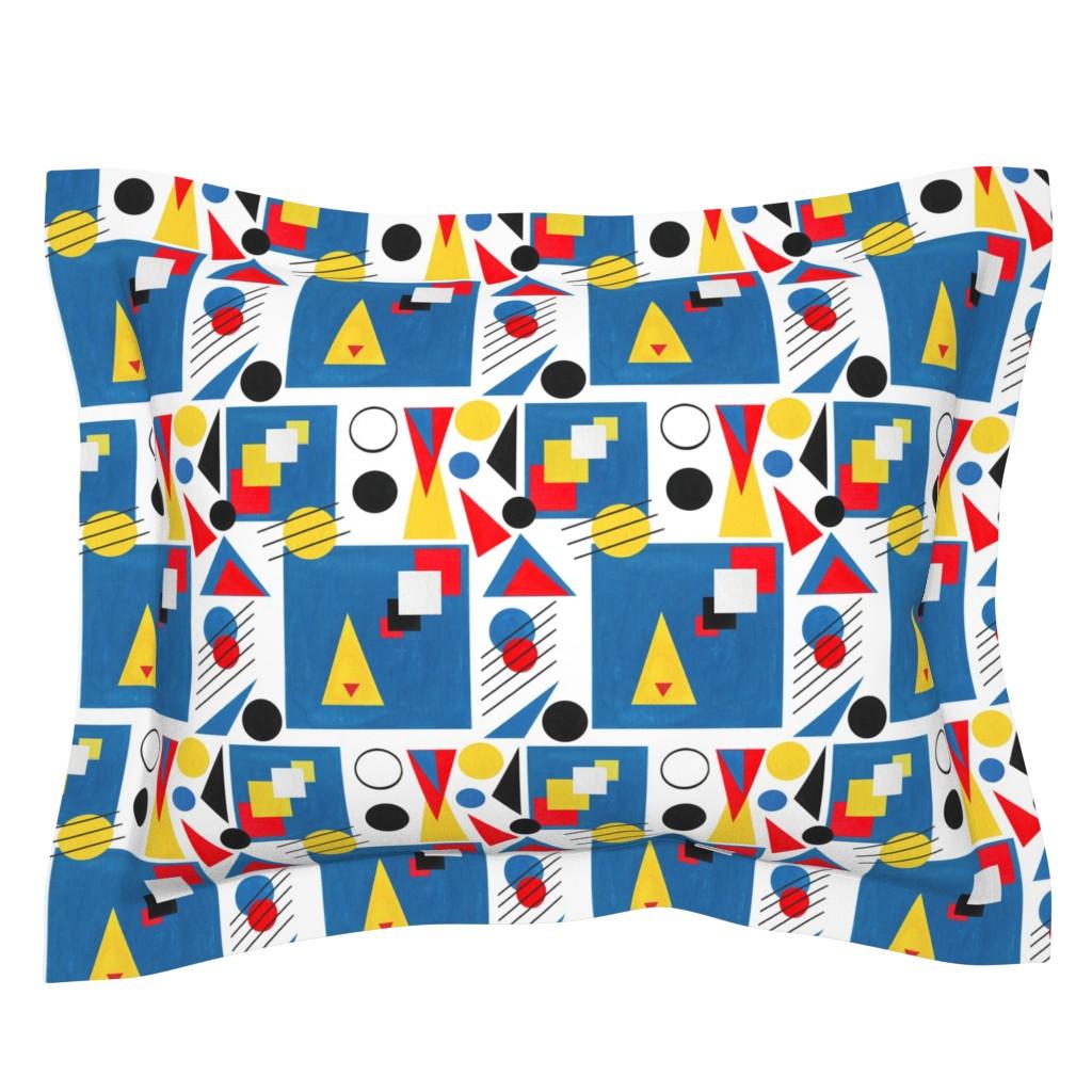 Sebright Pillow Sham featuring Bauhaus Paper Cut-outs by iadesigns