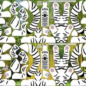 Twin White TIGER Cut n Sew