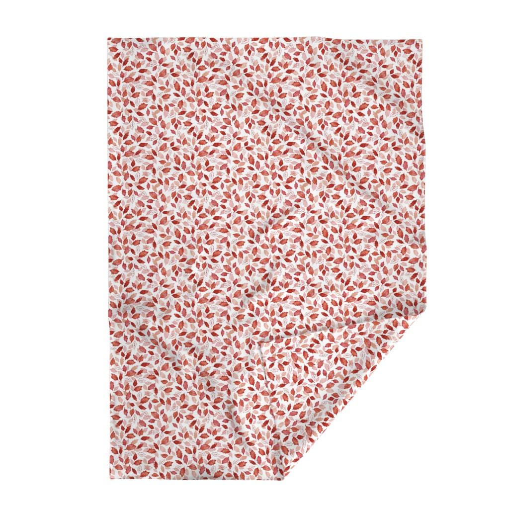 Lakenvelder Throw Blanket featuring Leaves coordinate red by adenaj