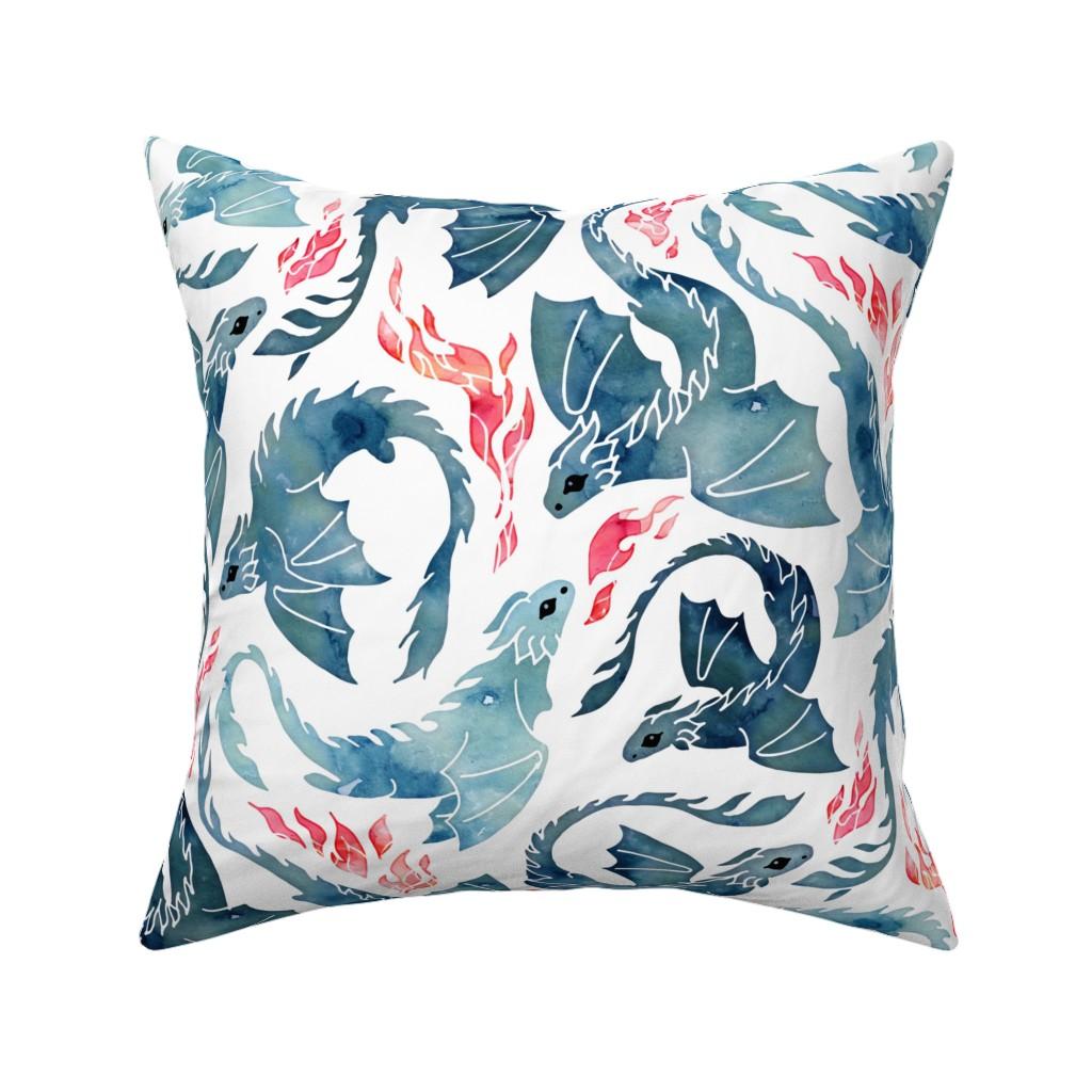 Catalan Throw Pillow featuring Dragon fire by adenaj
