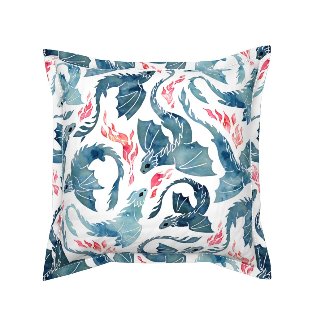 Serama Throw Pillow featuring Dragon fire by adenaj