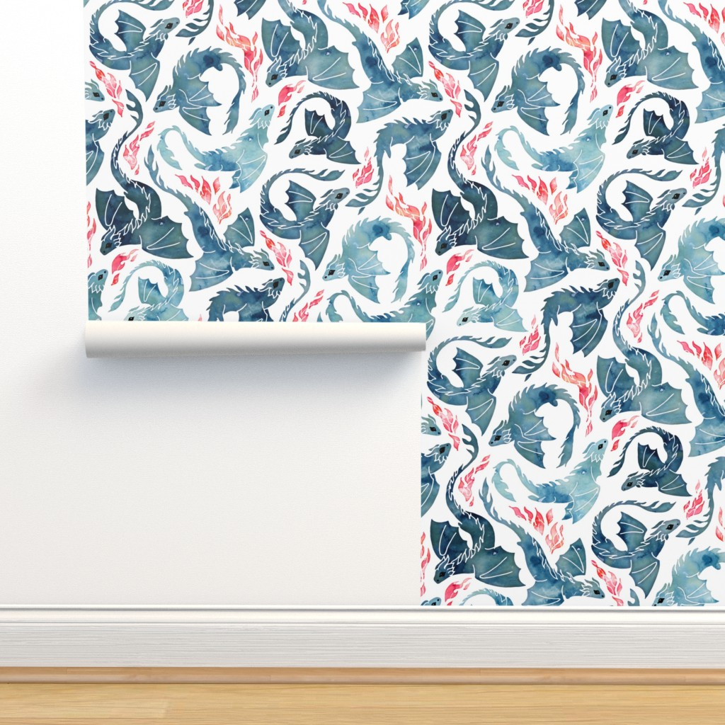 Isobar Durable Wallpaper featuring Dragon fire by adenaj
