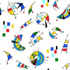 Bauhaus inspired abstract pattern