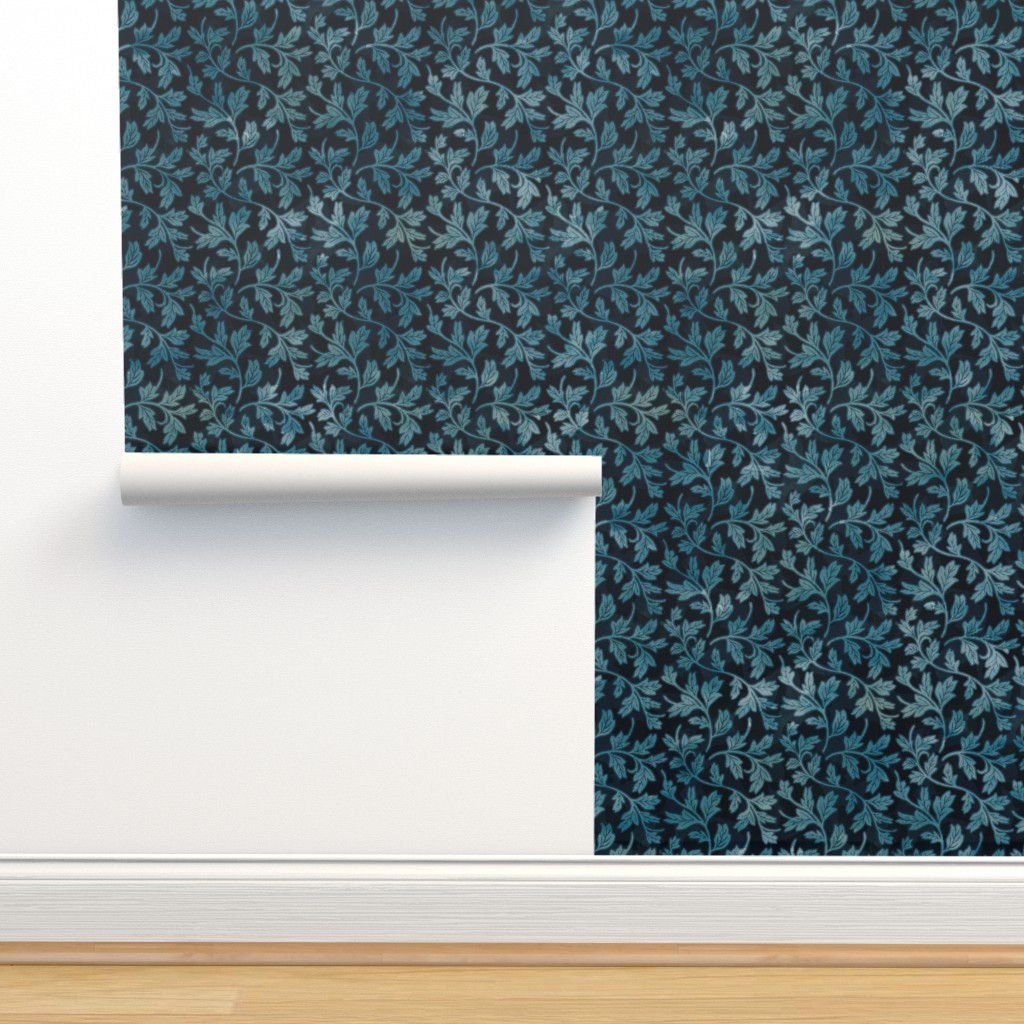 Isobar Durable Wallpaper featuring Victorian Peony Leaf Coordinate by adenaj