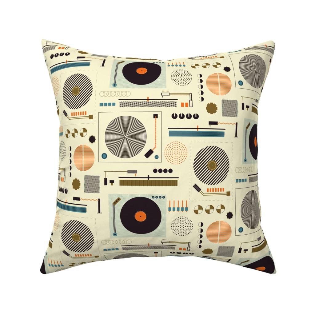 Catalan Throw Pillow featuring Bauhaus Records by katerhees