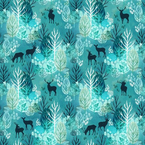 Emerald forest deer small