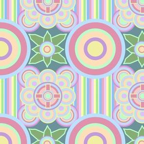 cool pastel bauhaus pattern