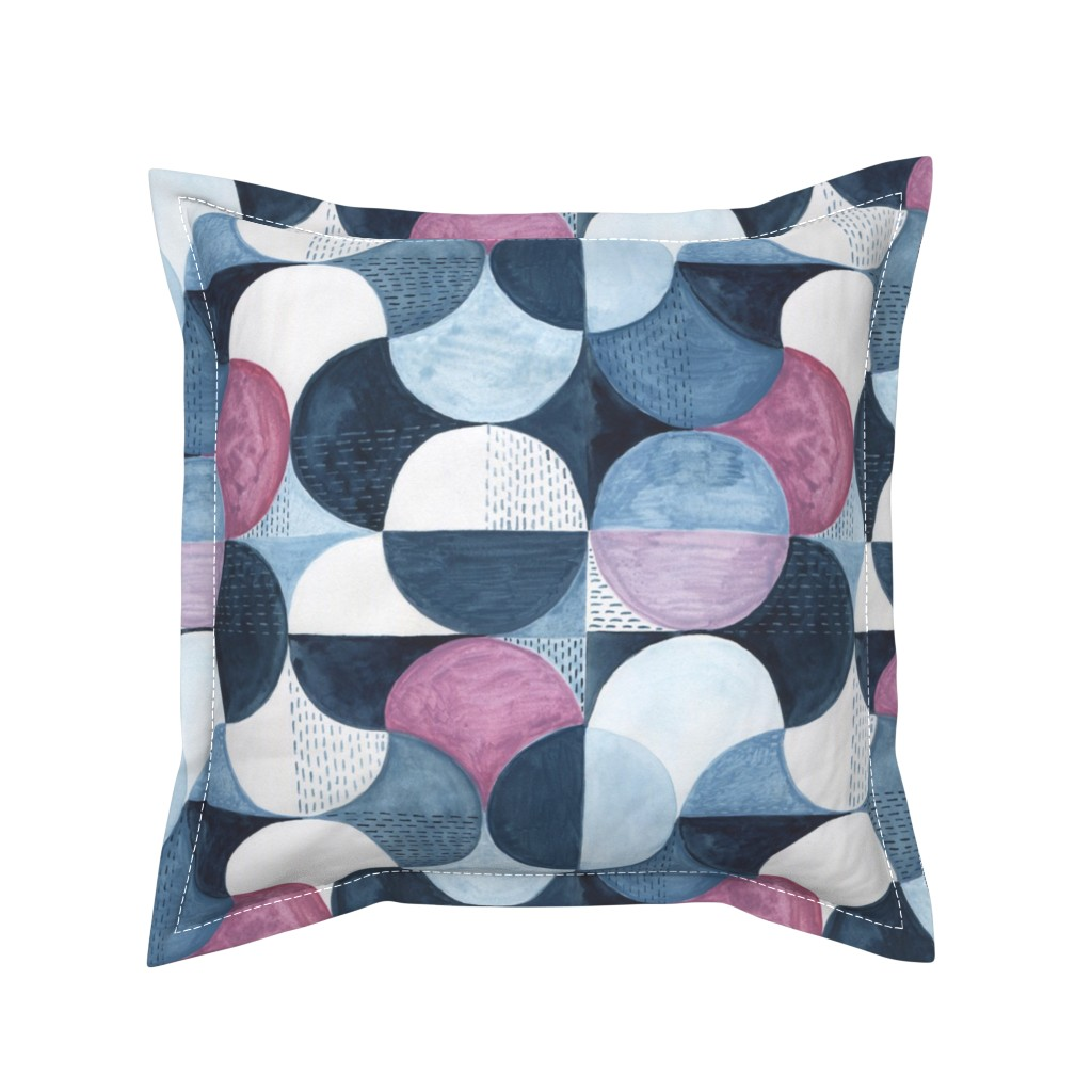 Serama Throw Pillow featuring Watercolor pattern by katyau
