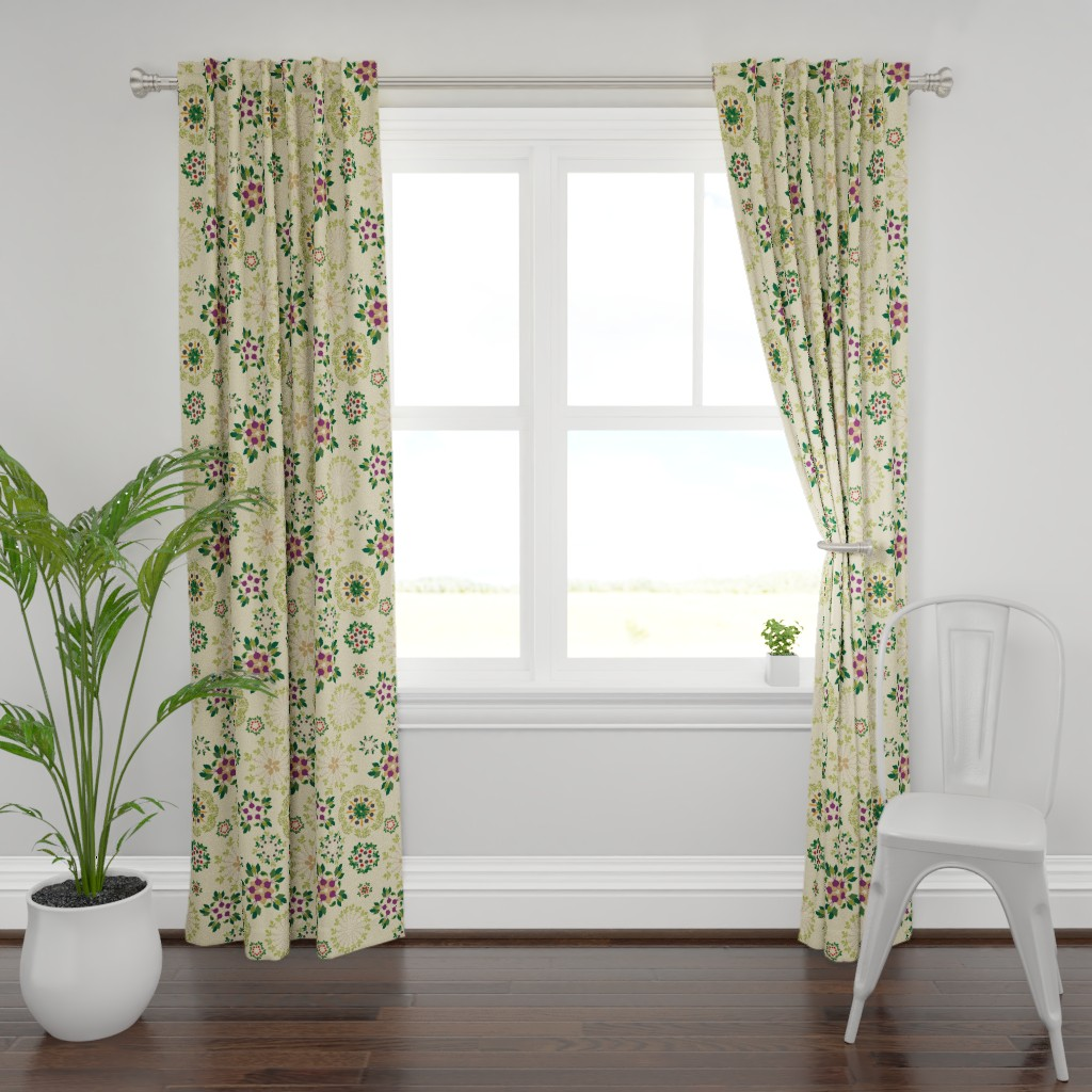 Plymouth Curtain Panel featuring roots_of_art by johanna_design