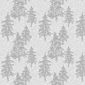 Small evergreen trees - grey