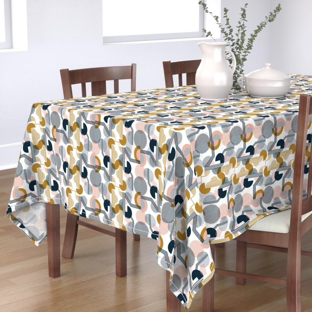 Bantam Rectangular Tablecloth featuring Bauhaus Retro by sarah_knight