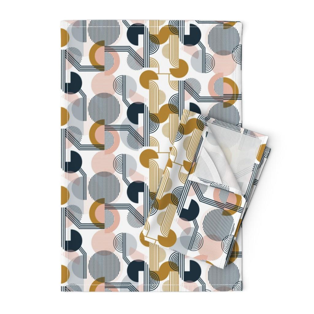 Orpington Tea Towels featuring Bauhaus Retro by sarah_knight