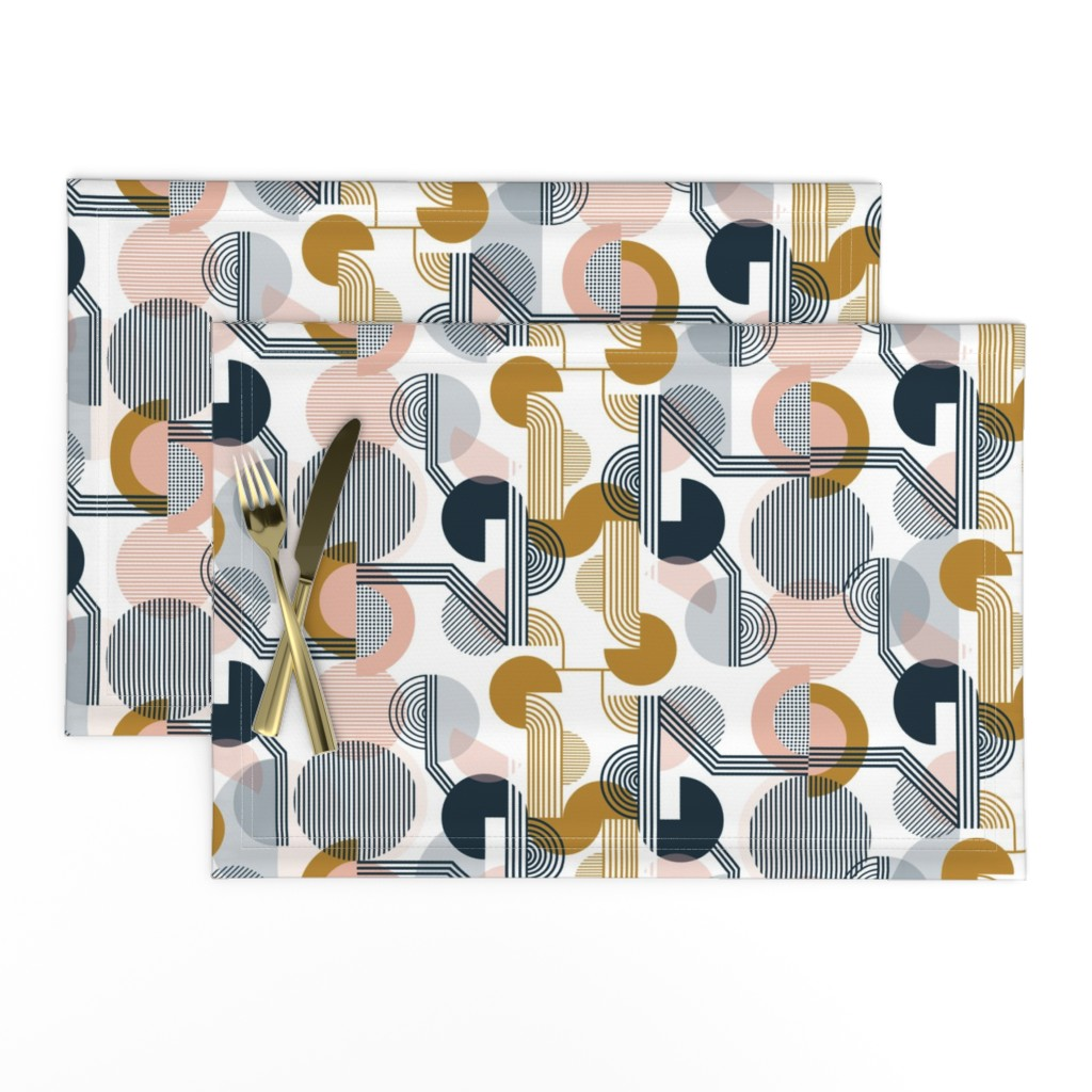 Lamona Cloth Placemats featuring Bauhaus Retro by sarah_knight