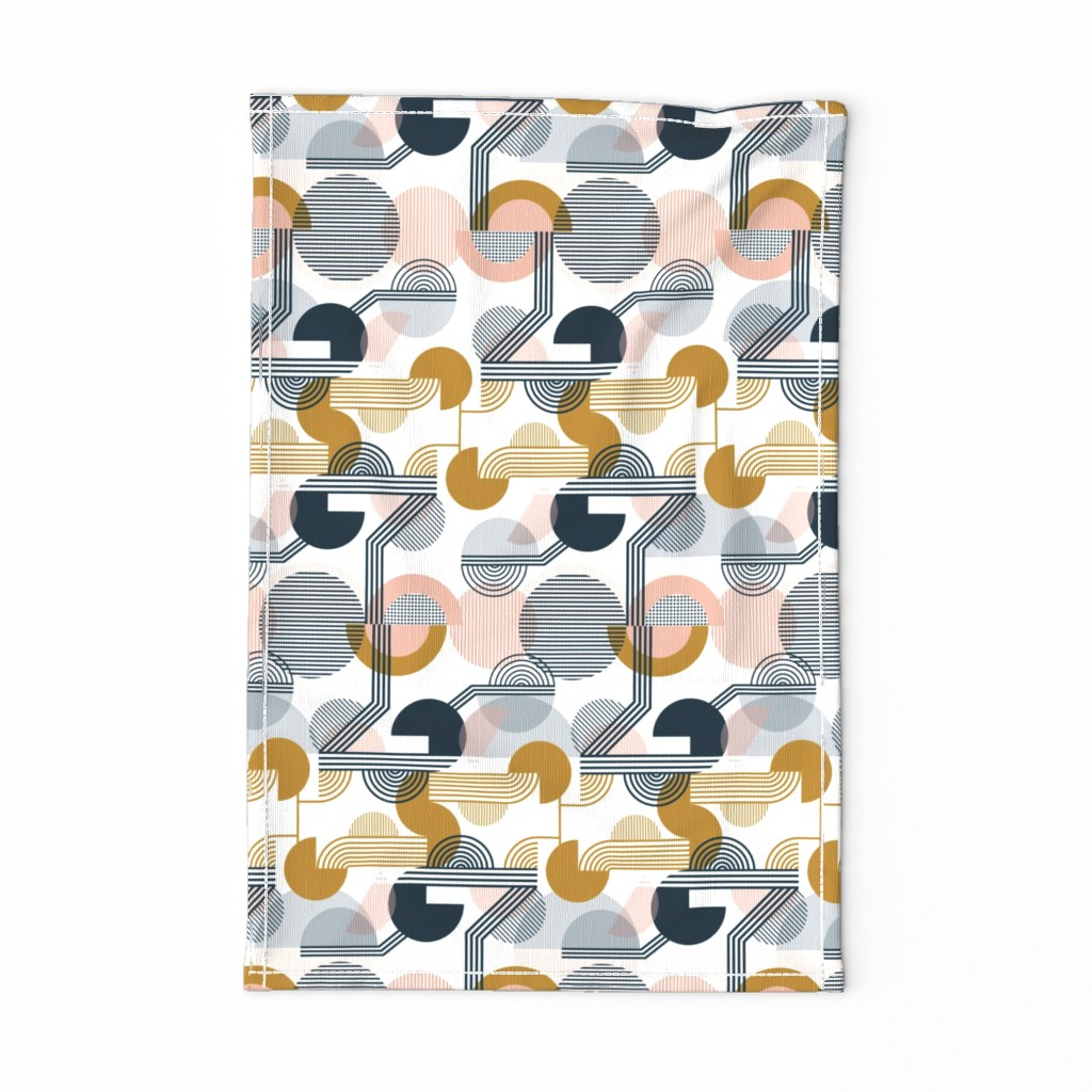 Special Edition Spoonflower Tea Towel featuring Bauhaus Retro by sarah_knight