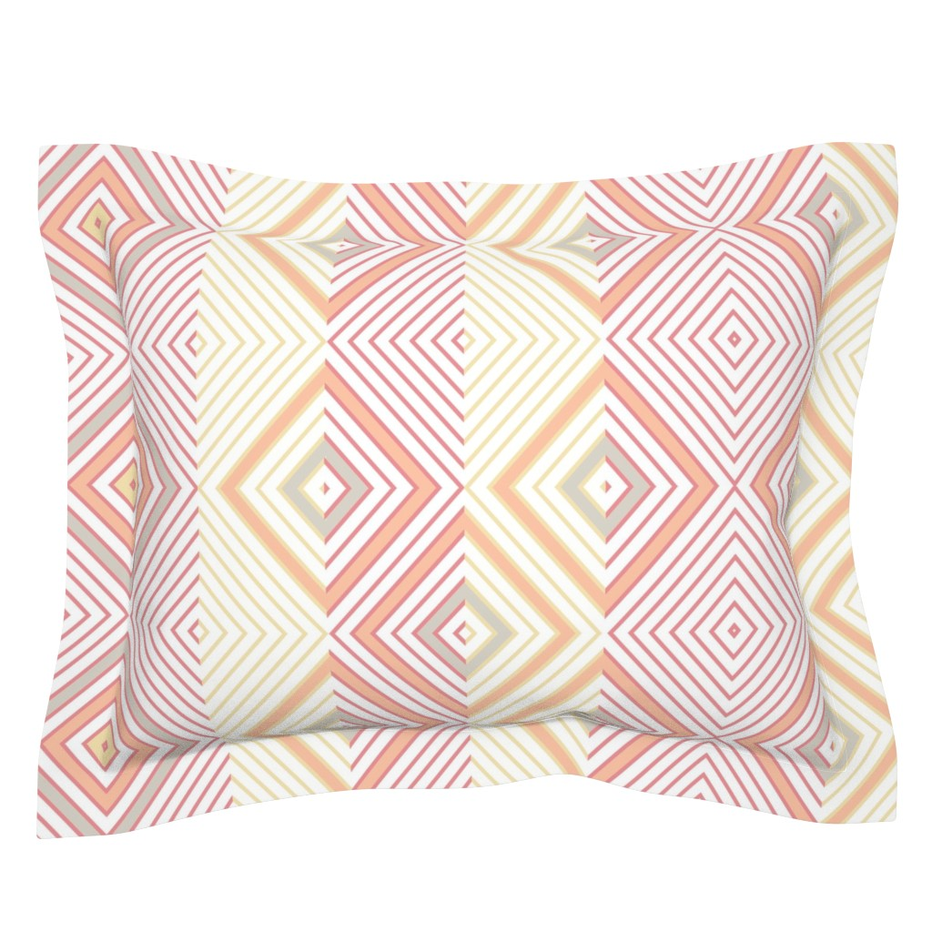 Sebright Pillow Sham featuring bauhaus movement by mypetalpress