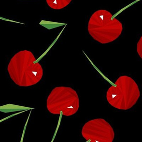 Cherries Cherries on Black