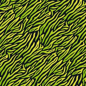 Diagonal green stripes