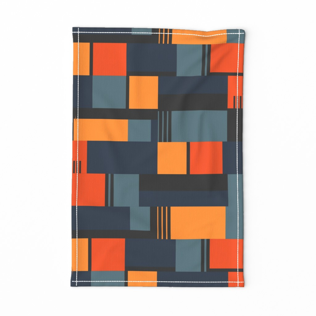 Special Edition Spoonflower Tea Towel featuring Bauhaus Inspired by meredith_watson