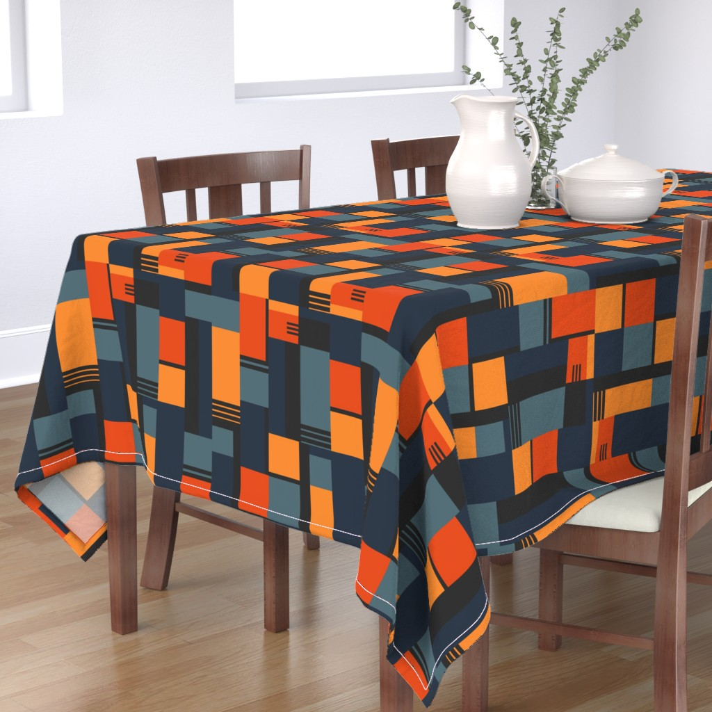 Bantam Rectangular Tablecloth featuring Bauhaus Inspired by meredith_watson