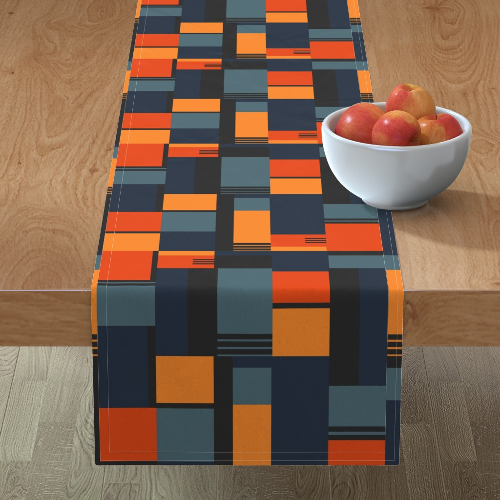 Minorca Table Runner featuring Bauhaus Inspired by meredith_watson