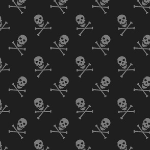 Skull and Crossbones // grey