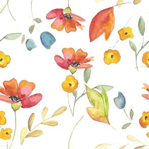 Watercolor Poppies - Largw