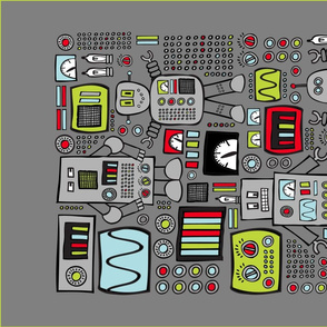 Retro Robot Tea Towel