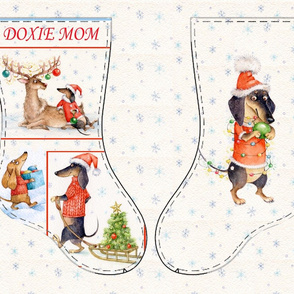 DOXIE MOM  Christmas stocking DIY
