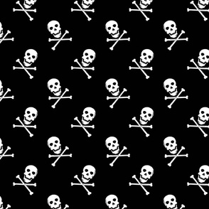 skull and crossbones // black and white