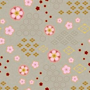 Sakura Traditional on Ecru