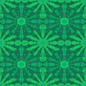 Green Shining ARabesque Pattern