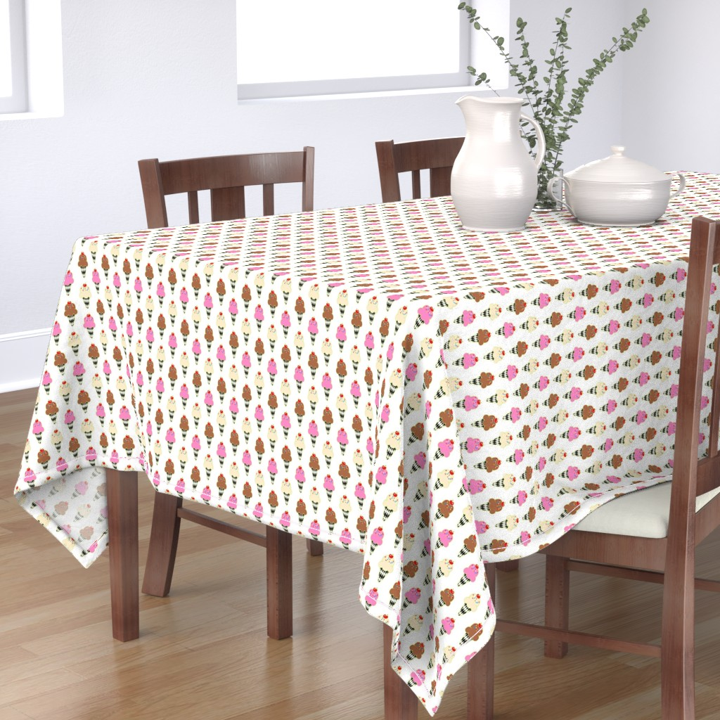 Bantam Rectangular Tablecloth featuring Retro Sweet / Ice Cream Cones by franbail