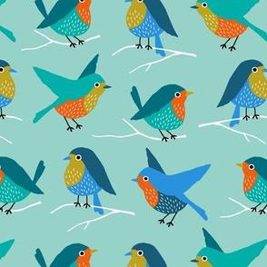 Colorful birds (custom)