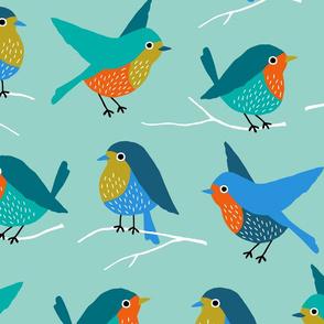 Jumbo Colorful Birds