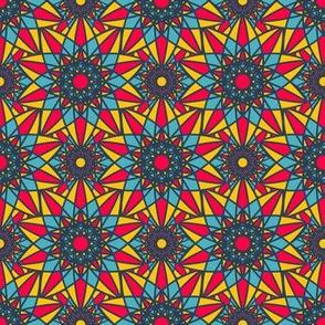 Indian Geometric Colorful Mandala Ornament