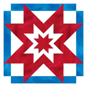 Independence Day Stars and Stripes Quilt Panel