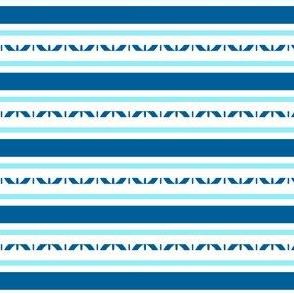 Horizontal Stripes, Blue, White