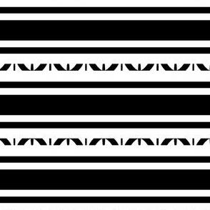 Large Horizontal Stripes, Black, White