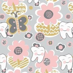 Blushing Pink Blooms / Spring-Summer Dental / Teeth-Smile