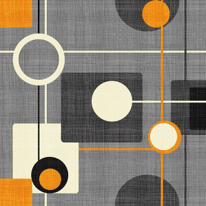 orbs and squares orange and gray inv