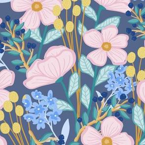 Wildflower Blooms Navy