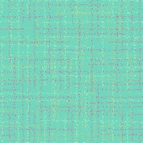 Turquoise dotted plaid