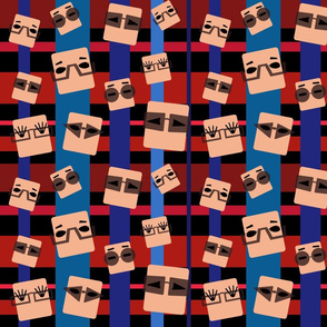 Pattern with Glasses