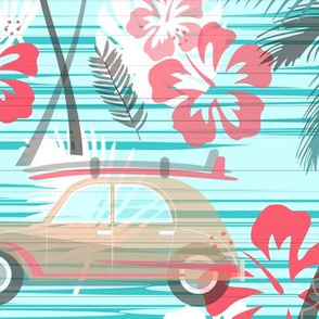 Vintage Beach Cruisin -  Large