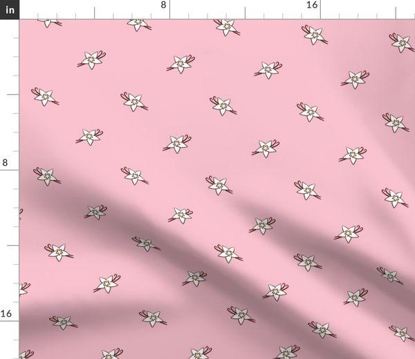 Fabric by the Yard Vanilla Flower