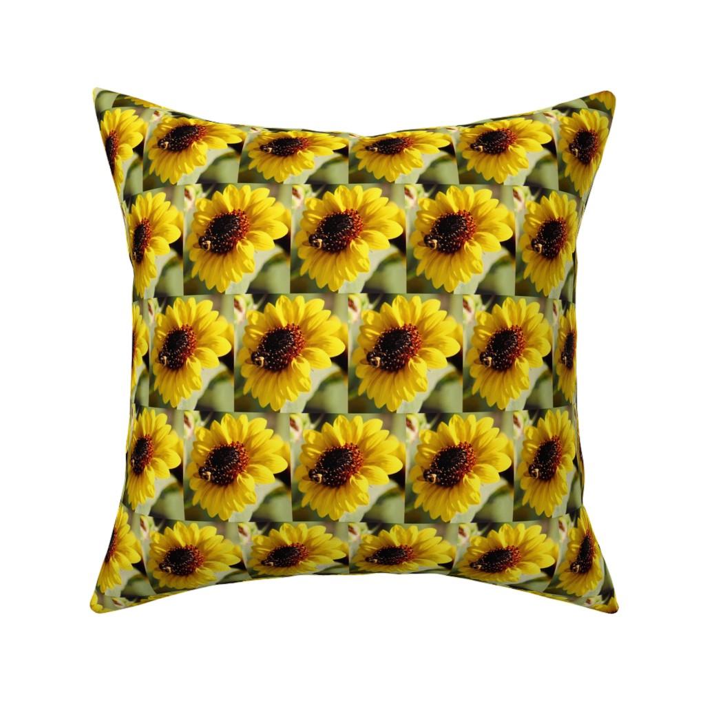 Catalan Throw Pillow featuring KRLGFP-BumbleBee3014-HALFBRICK by karenspix